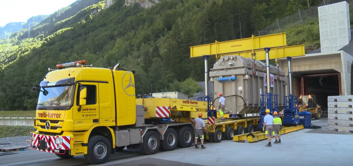 190-ton transformer transported across Germany to Switzerland technology