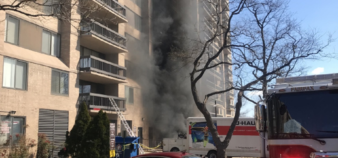 Transformer fire forces evacuation of 26-story condo in Bailey's Crossroads